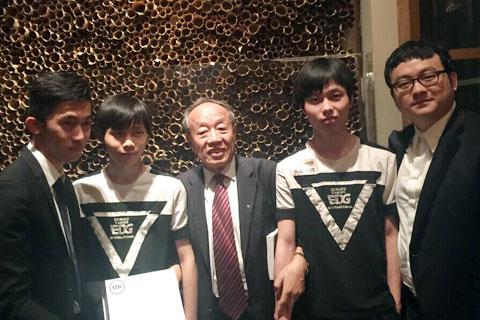 李肇星部长接见MSI冠军EDG战队