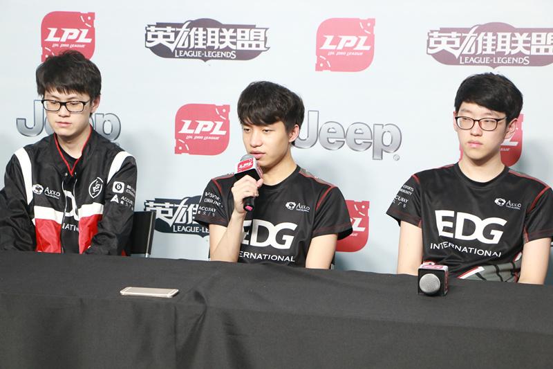 EDG赛后群访:希望能打好每一场比赛 变得越来越好