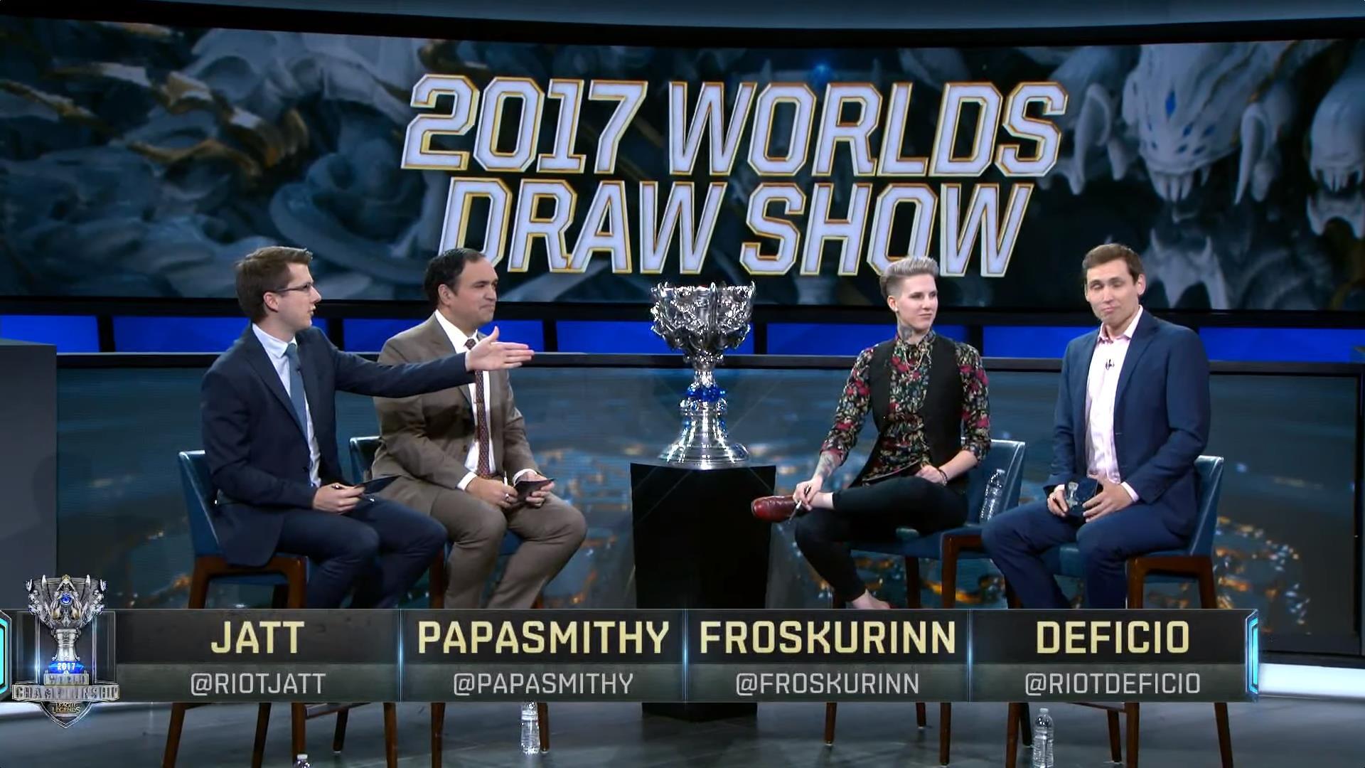 2017全球总决赛抽签结果及相关言论整合:骚还是欧美骚