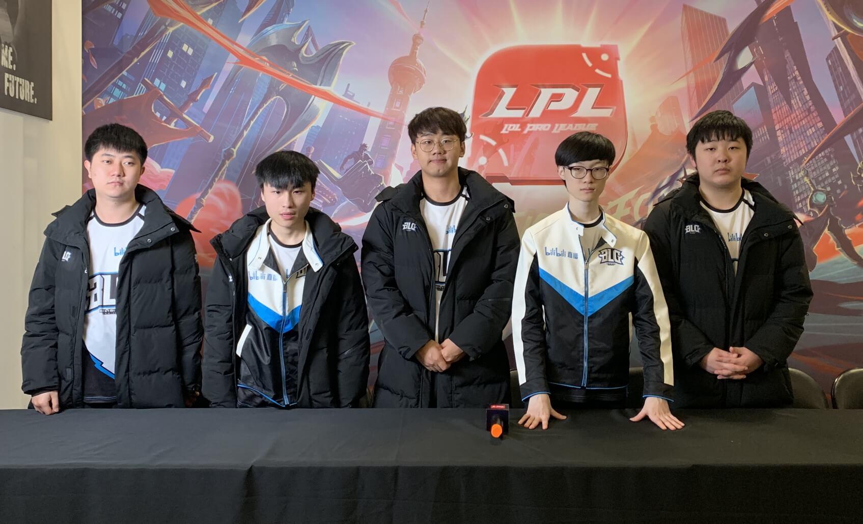 """【BLG赛后群访】Jinjiao:""""第一局比赛结束后没有影响到我们的心态。"""""""